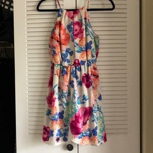 Floral Tulip Front Dress